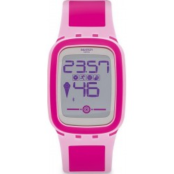Swatch Damenuhr Digital Touch Zero One Pinkzero SUVP100