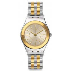 Swatch Damenuhr Irony Medium Goldensilver YLS207G
