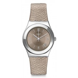 Swatch Damenuhr Irony Medium Justsand YLS467