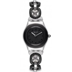 Swatch Damenuhr Irony Lady Black Glitter YSS293G