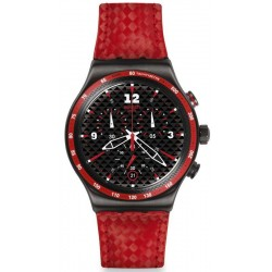 Swatch Herrenuhr Irony Chrono Rosso Fuoco YVM401 Chronograph