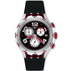 Swatch Herrenuhr Irony Xlite Red Wheel YYS4004 Chronograph