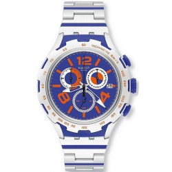 Swatch Herrenuhr Irony Xlite Chemical Blue YYS4011AG Chronograph