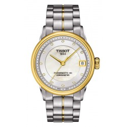 Kaufen Sie Tissot Damenuhr Luxury Powermatic 80 COSC T0862082211600 Diamanten