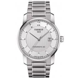 Tissot Herrenuhr T-Classic Powermatic 80 Titanium T0874074403700